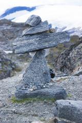 Zen, Steinpyramide auf Dalsnibba