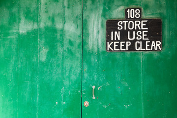 main door of store..keep clear!!