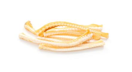Fish bone on white background