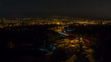 Day to night time lapse eastern European city street, poster