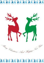 reindeer christmas background