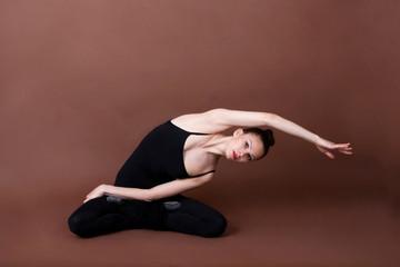 Girl doing gymnastics sport