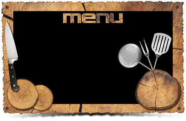 Rustic Menu Background - Photo Frame