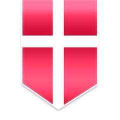 Denmark flag ribbon
