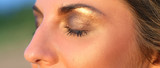 Mascara, make-up. Woman with beautiful face