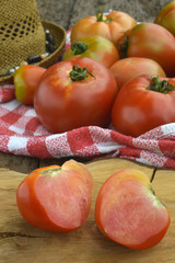 Organic cultivation tomatoes