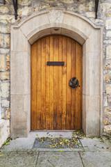 old wooden castle door