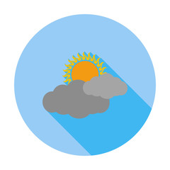 Cloudiness single flat icon.