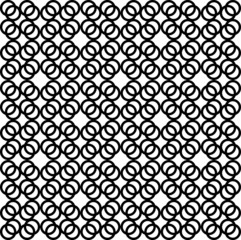 Seamless geometric pattern with rings Vector illustration