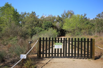 Wooden gate in a natural environment