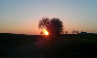 Sonnenuntergang mit Herz