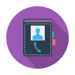 Contact book single icon.
