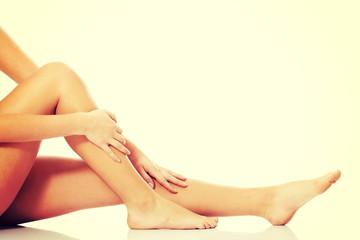 Beautiful, smooth female legs.