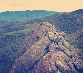 Woman Conquers Mountain Instagram Style