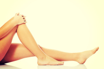 Beautiful, smooth female legs.