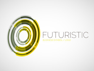 Futuristic circle business logo design