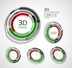 Futuristic circle business logo design