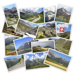Alps - photo memories collage