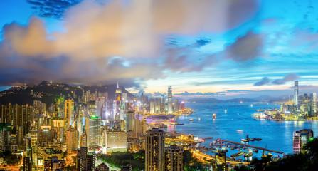 Aerial Panorama Hong Kong