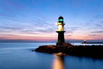 Leuchttürme an der Ostsee, Hafeneinfahrt