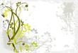 Beauty Abstract floral background for you design