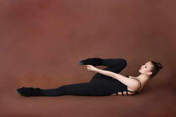 Girl doing stretching sport