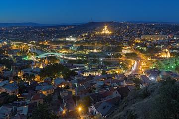 Evening view of Tbilisi, Georgia