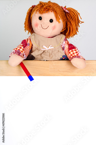 canvas print picture Puppet shows on shield