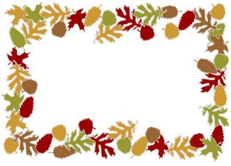 Herbstblätter bilden einen Rahmen