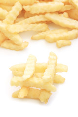 Close up French fries potatoes
