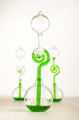 Three love thermometers isolated