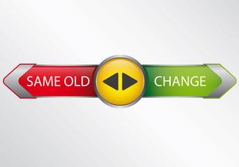 pfeilbutton_grün_gelb_rot_same_old_change