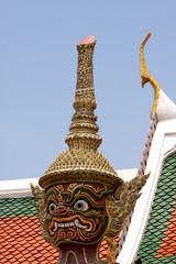 Statua nel Palazzo Reale a Bangkok.