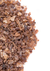 Tasty brown sugar. Close up.