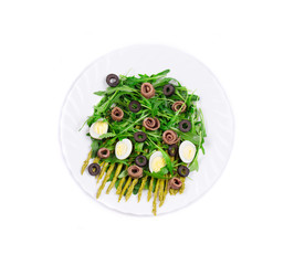 Asparagus salad with anchovies.