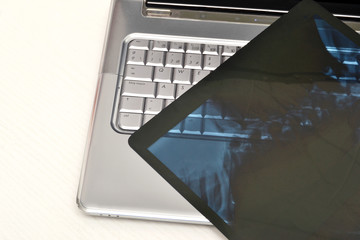 Laptop and radiographs