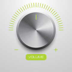 volume metal button