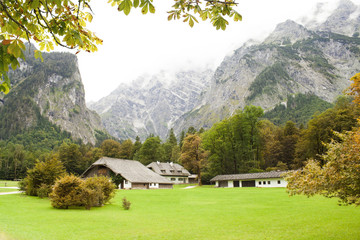 autumn in Bavarian Alps of Europe