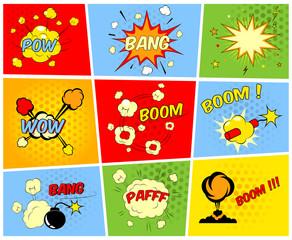 Comic boom or blast explosions
