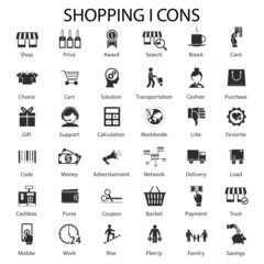 shopping and sales icons