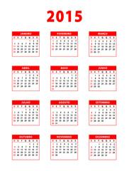 2015 red portuguese calendar