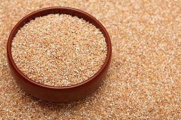 Bulgur wheat in bowl