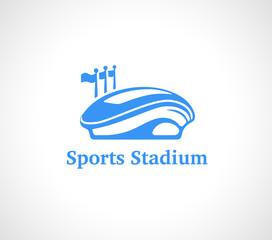 Sports Stadium Logo in Blue