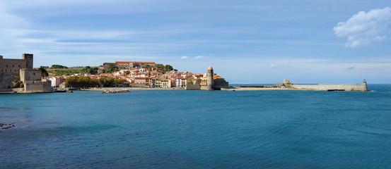 Coastal panorama old village of Collioure France