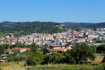 View on Betanzos, a beautiful historic town in Galicia, Spain