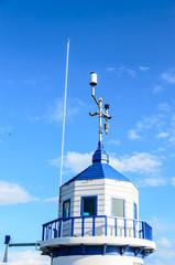 Blue warning tower