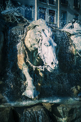 Horses of Bartholdi Fountain in Lyon