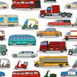 Retro cars  pattern