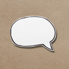 Blank Speech Bubble on