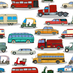 Retro cars  pattern